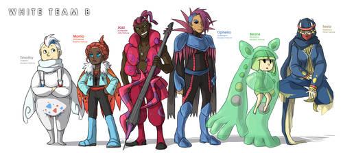 Pokemon OC: White Team B Roster by ky-nim