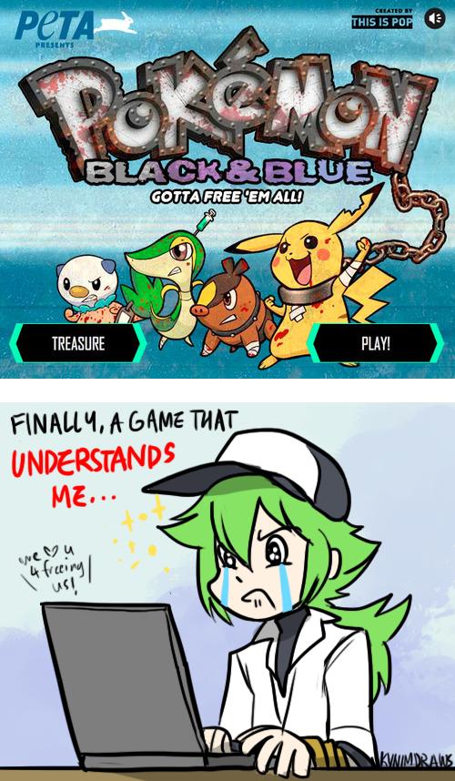 Pokemon: PETA MEETS POKEMON by ky-nim