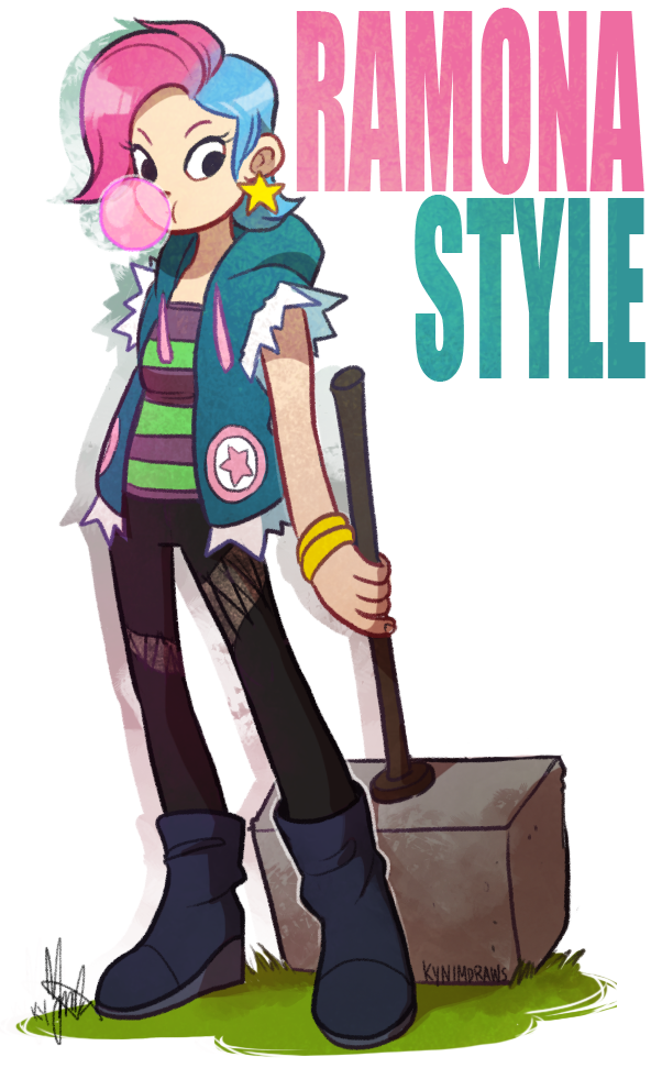 Scott Pilgrim: Ramona Style by ky-nim