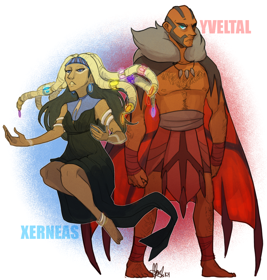 Pokemon OC: Yejide and Xerxes by ky-nim