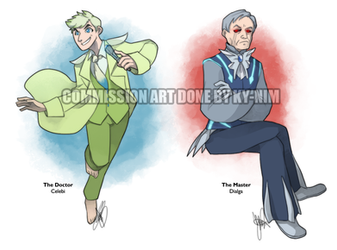 Commission: The Doctor and Master as Pokemon by ky-nim