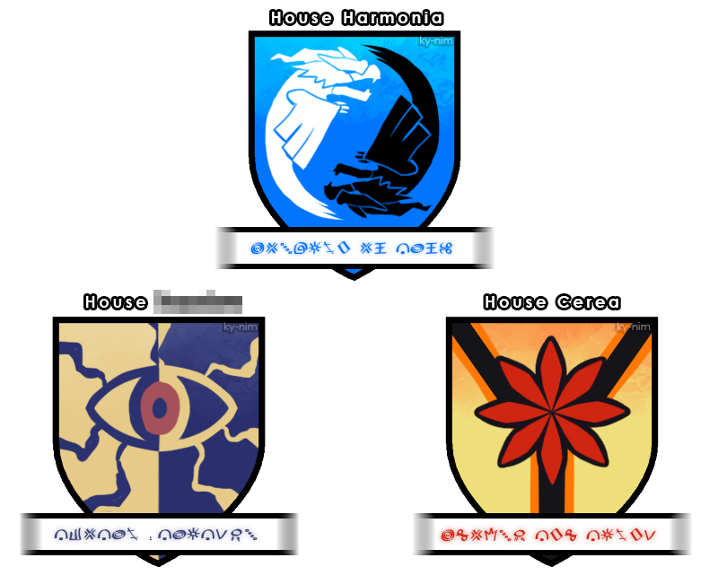 Nuzlocke White: The Unovan Houses (see descript) by ky-nim