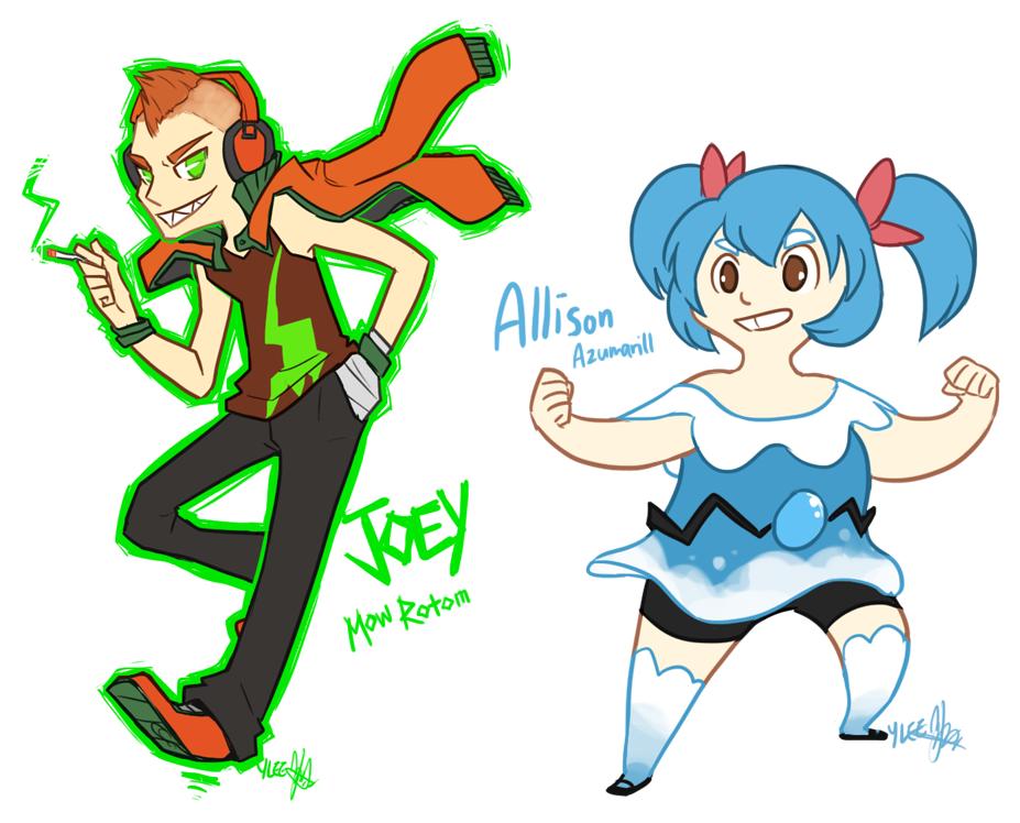 Pokemon OC: Joey and Allison by ky-nim