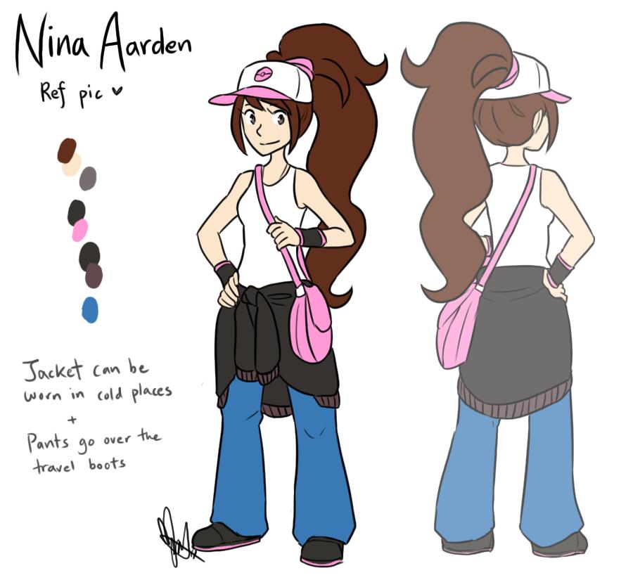 Nuzlocke White: Nina Outfit Ref by ky-nim