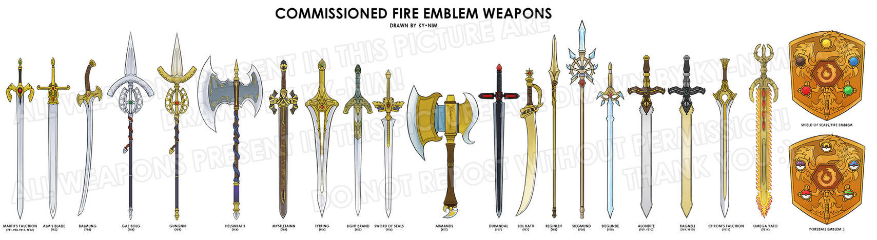 Fire Emblem The Weapons Of Fe Compilation By Ky Nim On Deviantart