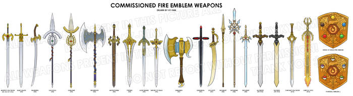 Fire Emblem:  The Weapons of FE compilation by ky-nim