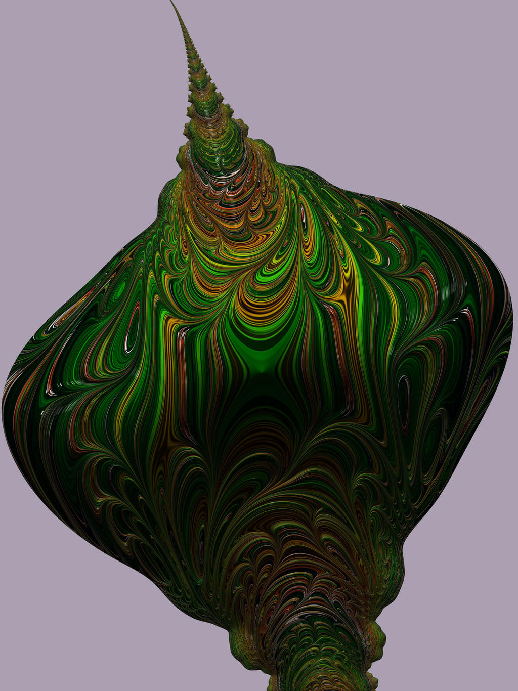 Fractal Green Bud by laughingtube