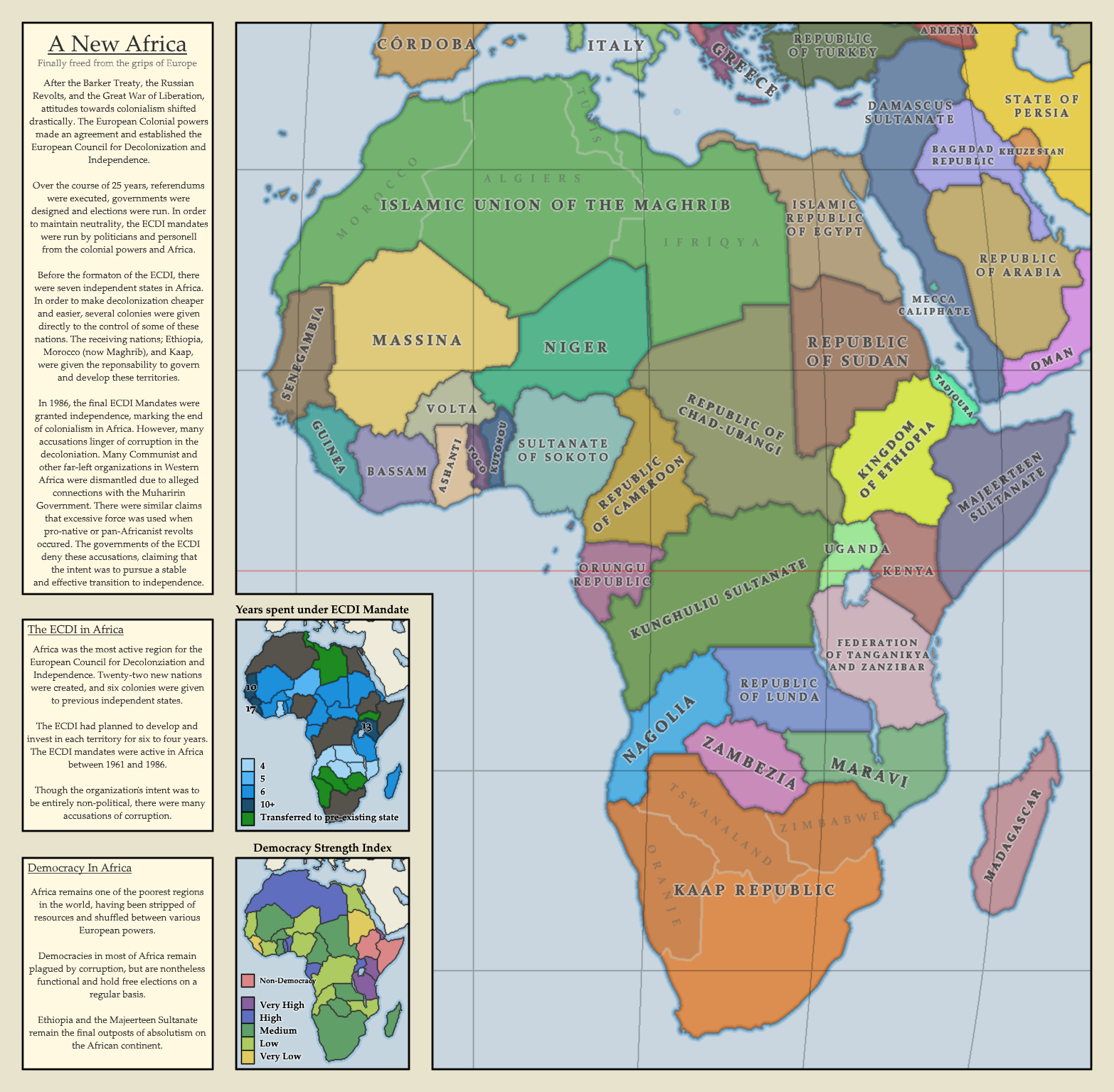 New Africa Map.A New Africa Finally Freed From The Grips Of Europe Imaginarymaps