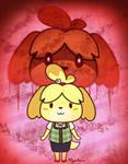 Isabelle - Aggretsuko style 2