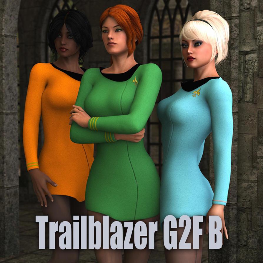 Trailblazer B Dress for genesis 2 female /V6 by NVent3d