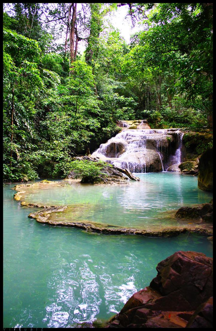 Erawan Waterfall by VirtualZ