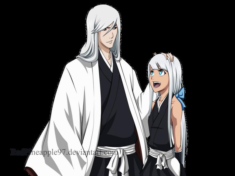 Bleach OC: Kamiya Rin and Ukitake Juushiro by RedPineapple97
