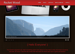 Rocket Wood Template - Free HTML by alexgurghis