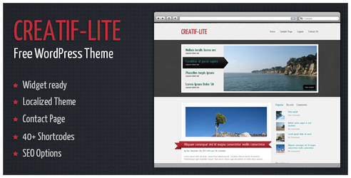 Creatif-Lite - Free WordPress Theme by alexgurghis