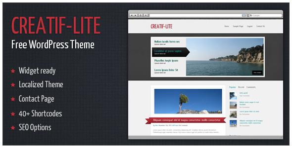 Creatif-Lite - Free WordPress Theme by alexgurghis