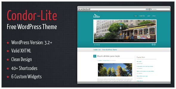 Condor-Lite - Free WordPress Theme by alexgurghis