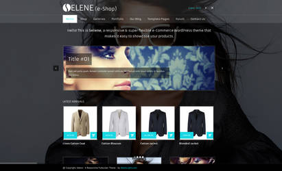Selene - Fullscreen e-Commerce WordPress Theme by alexgurghis