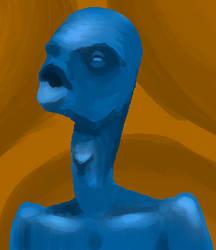 Blue Person by alexblue0