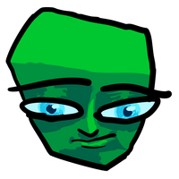 Green Box faced person