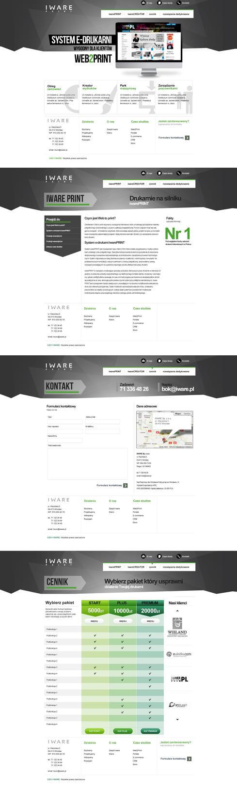 strona do produktu web to print by ro183
