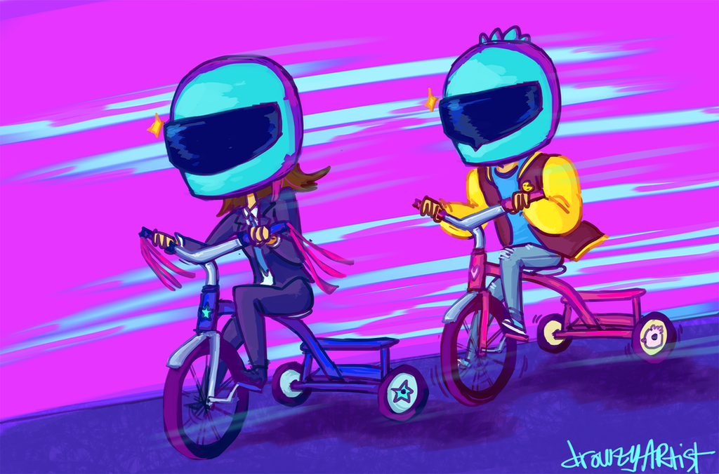 Tricycle Gang by drowzyartist