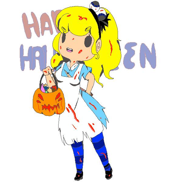 Bloody Halloween by MespriteDrawings