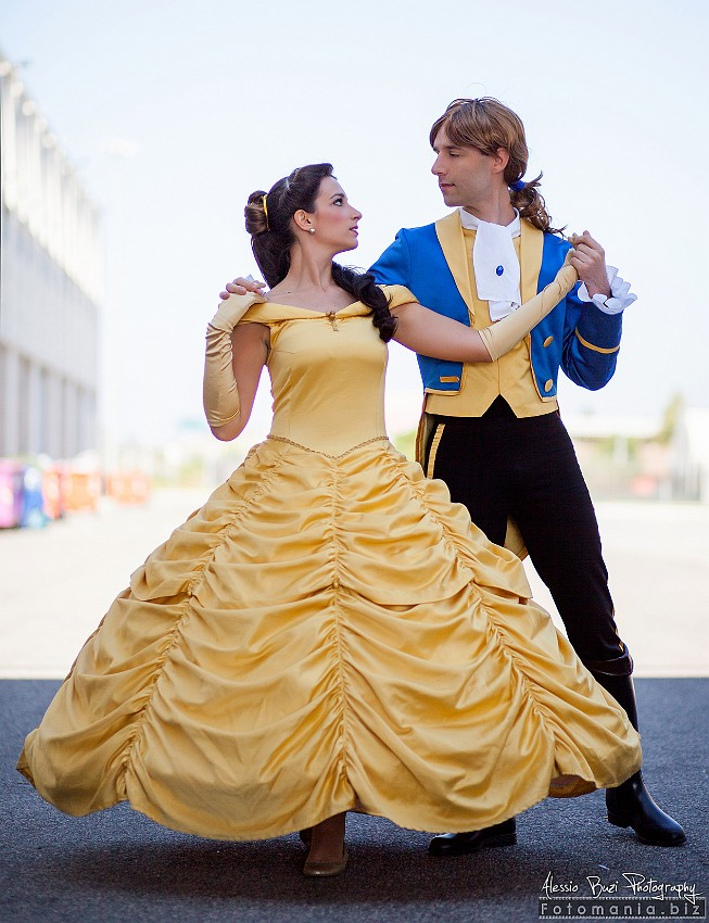 Belle And Prince Adam Cosplay By GiorgiaSanny