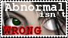 Abnormal isn't Wrong -stamp- by Meekochan