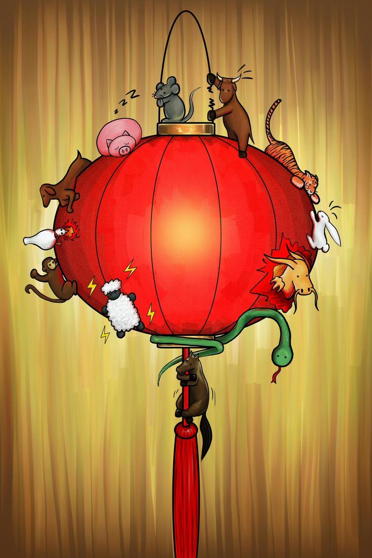 Chinese Zodiac Lantern (2010) by Meekochan