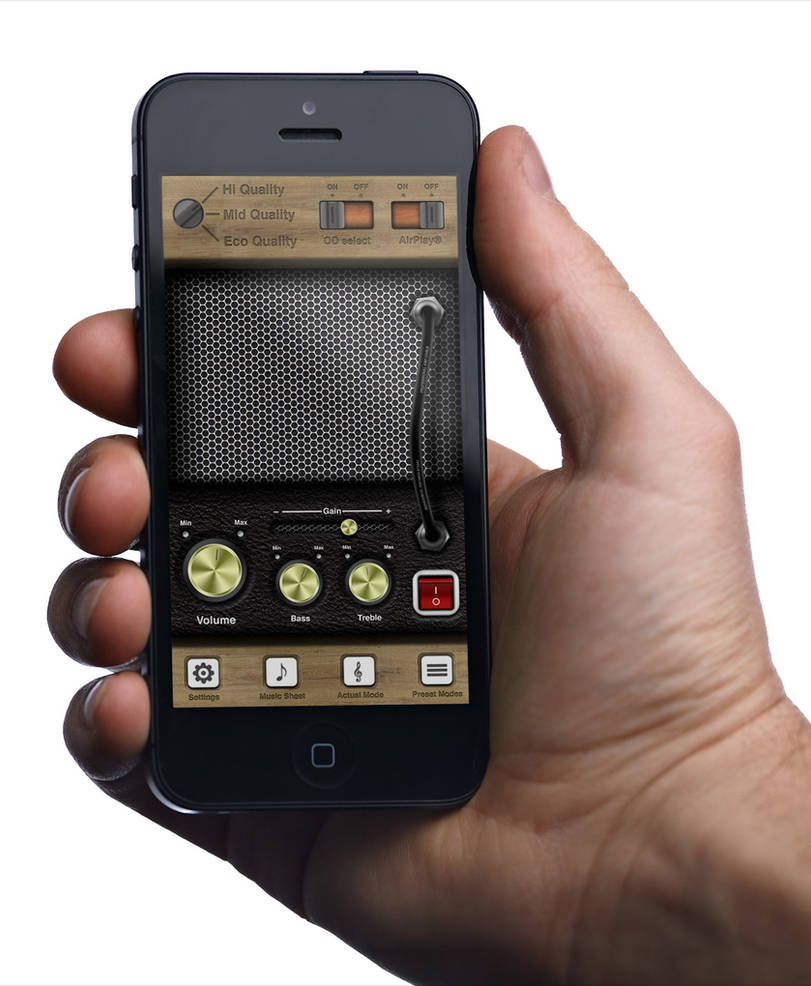 iPhone UI - Amplifier App by TobiaCrivellari on DeviantArt