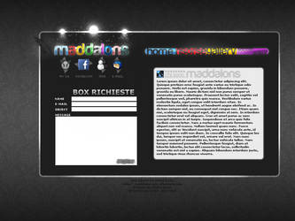 MY PORTFOLIO LAYOUT WEBDESIGN by maddalons91