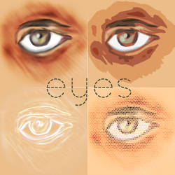 Eyes - 4 versions by maddalons91
