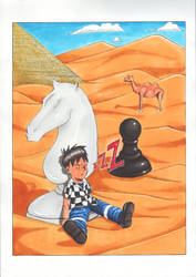 Gnik- Royal Game Illustration by Aimnad