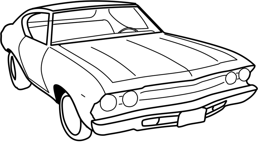 Line Drawing Of Car : Car line art by zombiephlegm on deviantart
