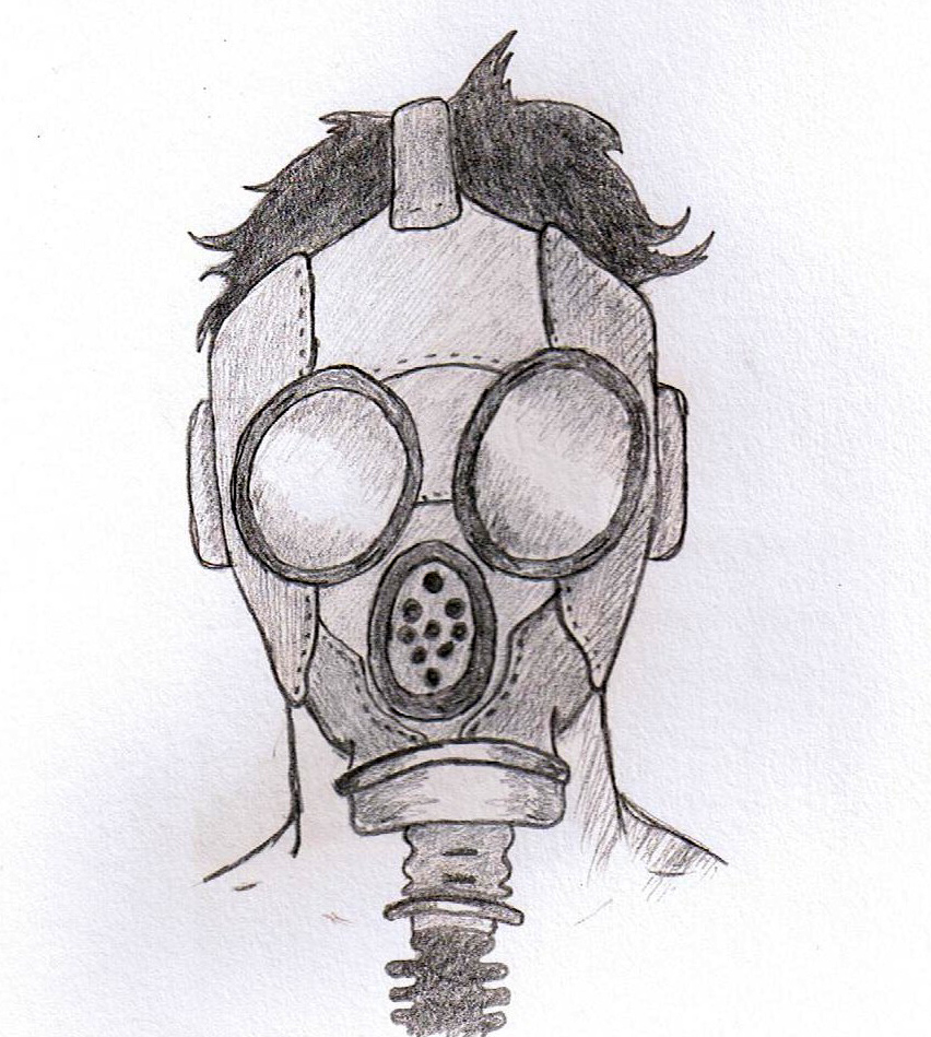 Gas Masks Drawing Gas Mask Drawing Gas Mask