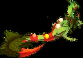 grass dragon by Hanjidile