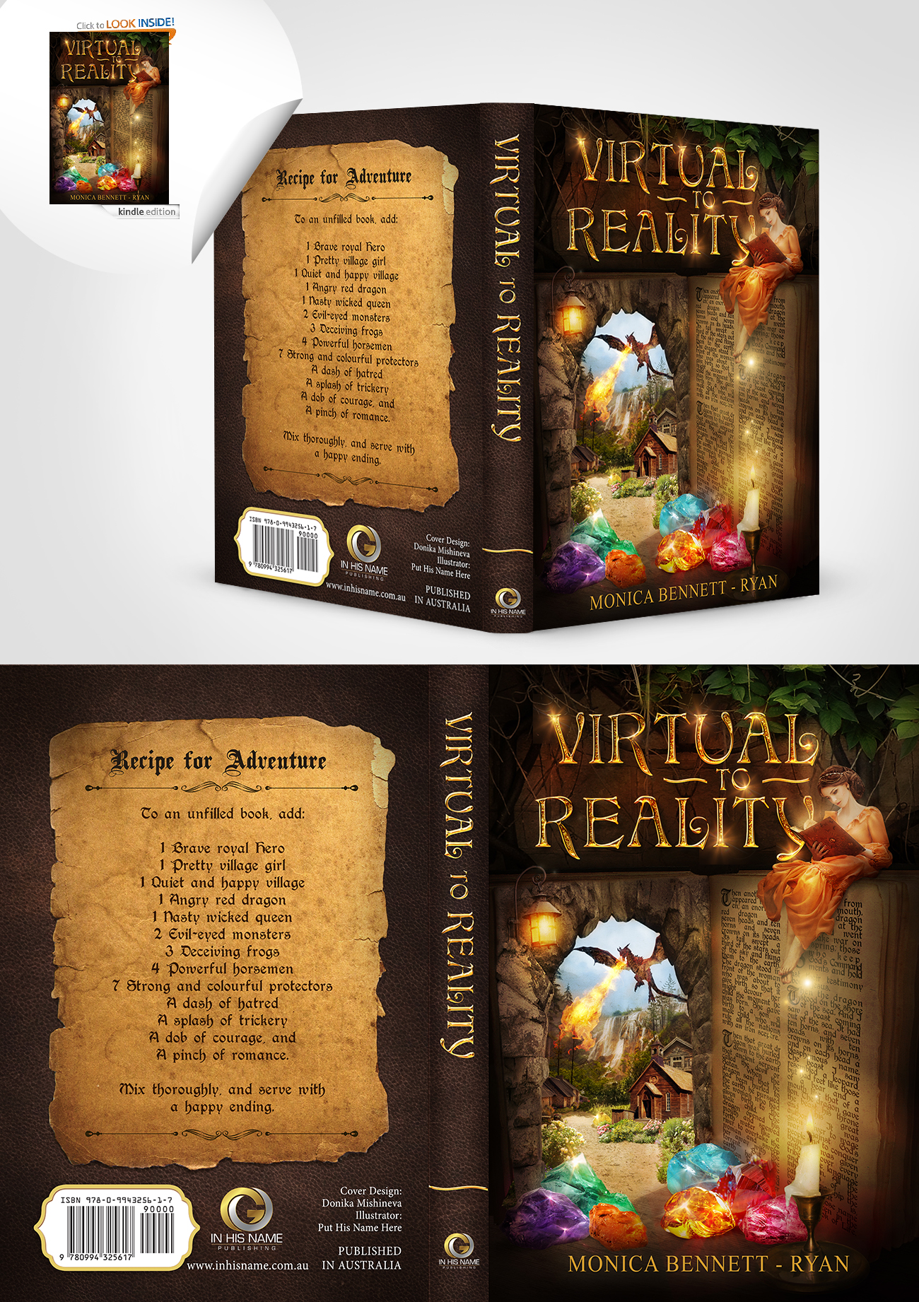 Book Cover Design: VIRTUAL To REALITY