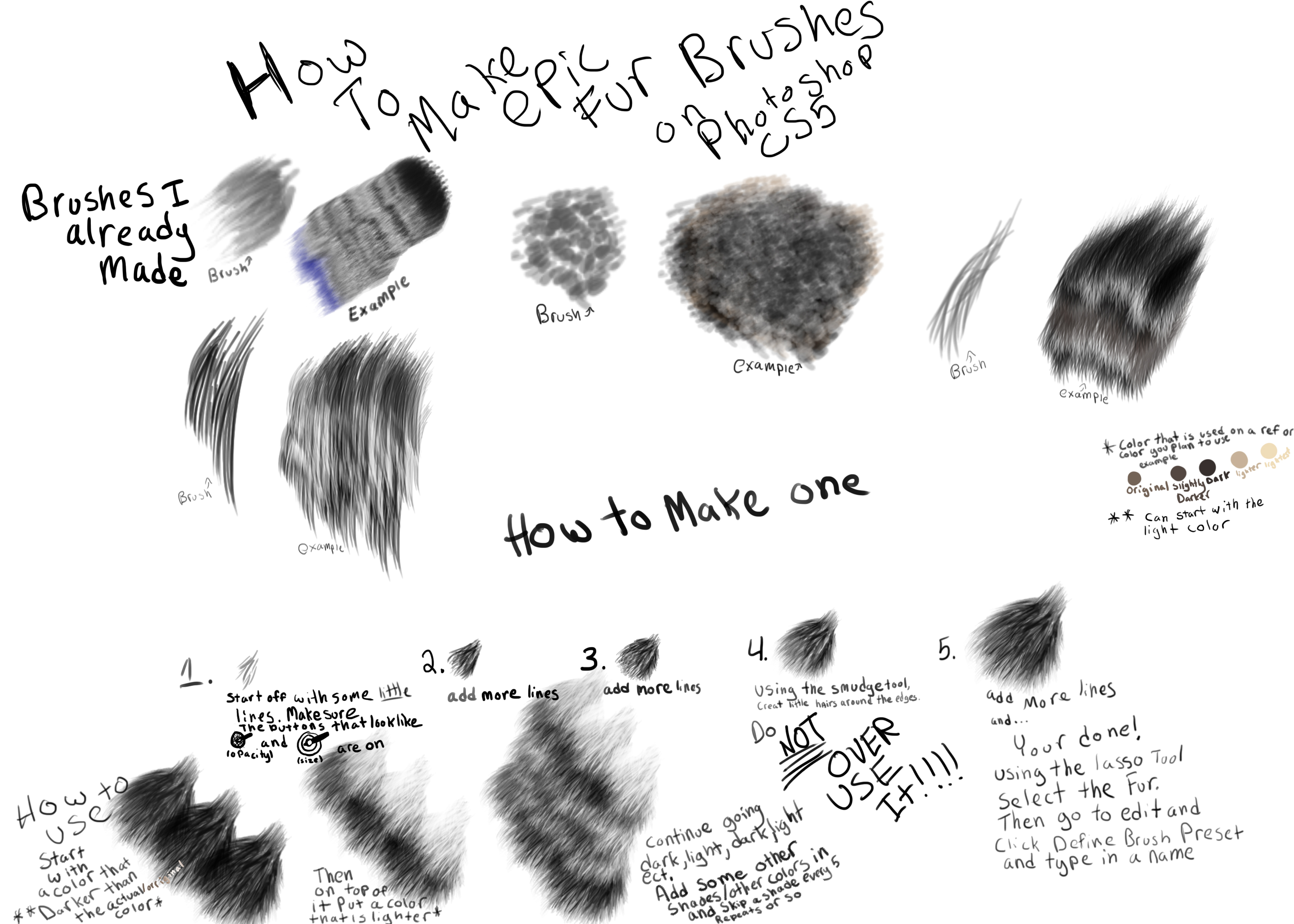 How To Make A Fur Brush On Photoshop By Spiritinspace