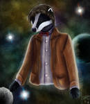 The Doctor (Matt Smith) as a Badger