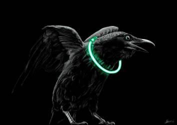 Raving Raven by More10Art