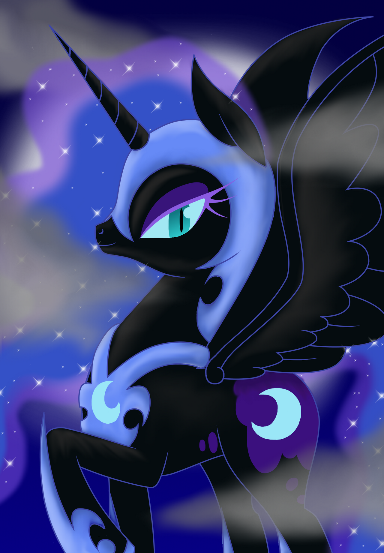 Nightmare Moon by phoenixflorid on DeviantArt   Nightmare Moon Moon