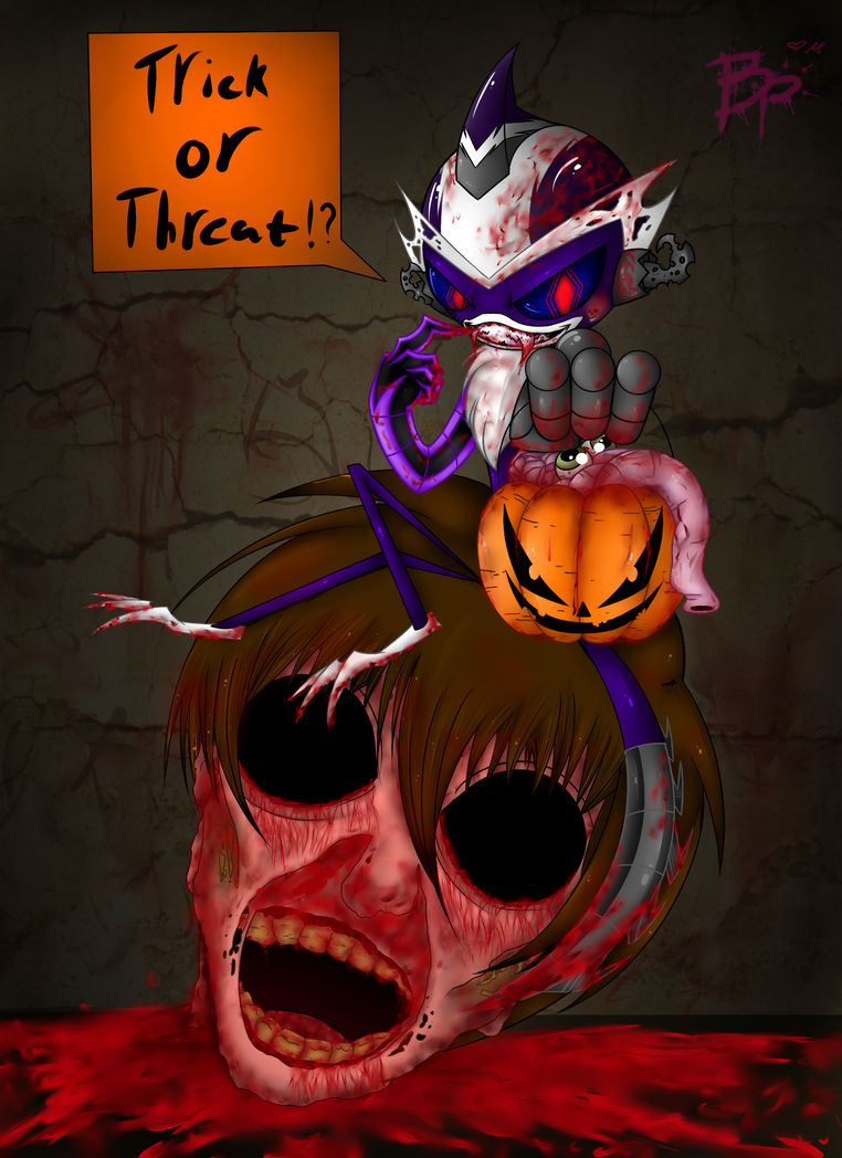 Halloween 2014: amy goes trick or threat by BloodyPink-M