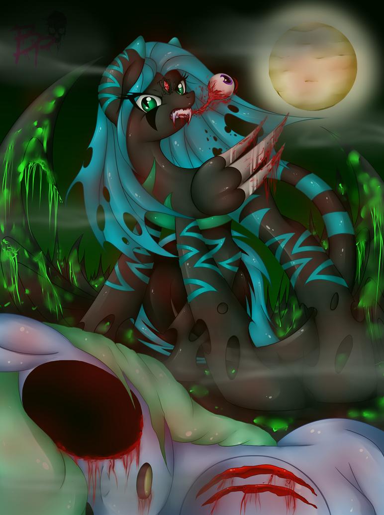 night crystal: u will not pass my queens kingdom by BloodyPink-M