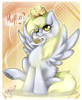 MLP fanart: Derpy Hooves- Muffin? by BloodyPink-M