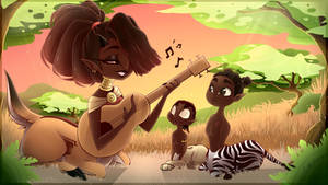 lost min illustrations Mbali sunset song