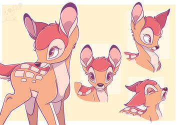 Bambi Fanart collage