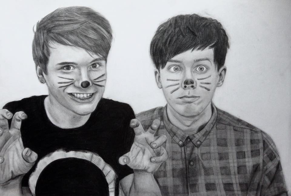 Dan and Phil by bowtiesrcwl