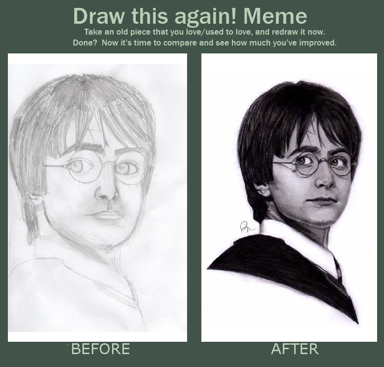 Draw this again: Harry Potter by bowtiesrcwl