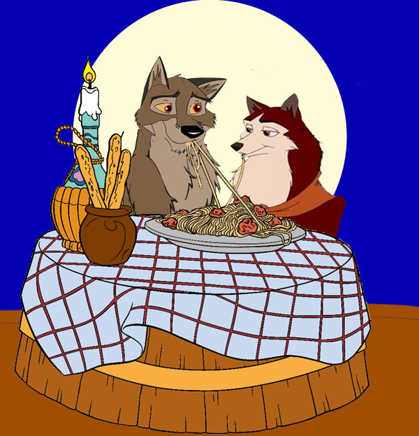 Balto And Jenna Lady And The Tramp Date By Powermaster14 On Deviantart
