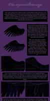 How to paint black wings by Enamorte